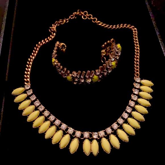 JCrew costume necklace and bracelet
